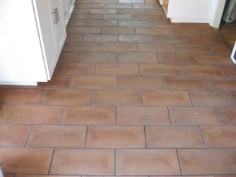 Clean Mexican terra cotta pavers in San Diego