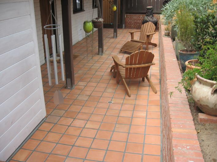 Installed 8 inch Mexican Saltillo tiles 7 3/4 inch for sale 7 1/2 inch mexican pavers