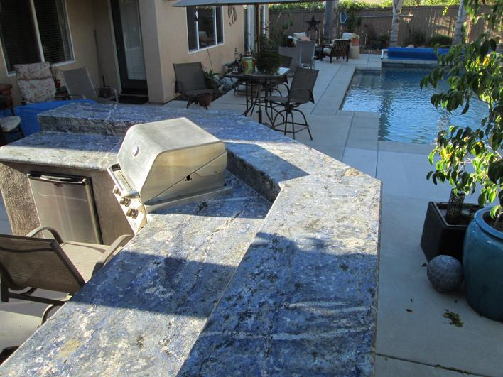 AZUL BAHIA GRANITE COUNTERTOP FOR BARBEQUE REMODEL IN SAN DIEGO