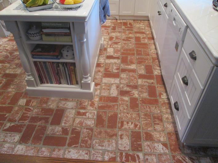CLEANING & RESEALING BRICK KITCHEN FLOOR COMPANY IN SAN DIEGO AREA
