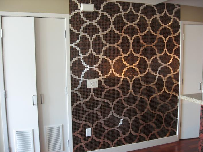 1 Inch Bisazza glass tile installer san diego expert glass mosaic tiles installed