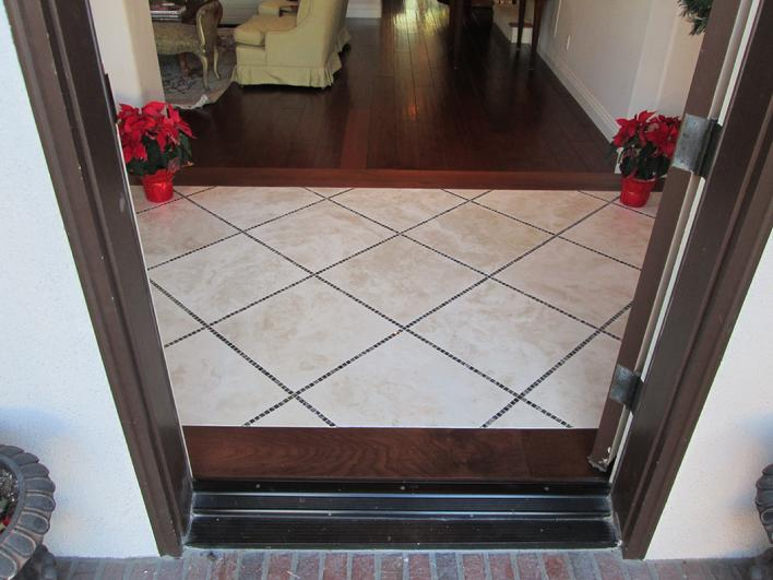 18 INCH DURANGO TRAVERTINE & EMPERADOR DARK MARBLE TILE IMAGE