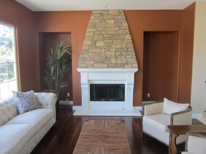 Photo of Eldorado STONE FIREPLACE Installation