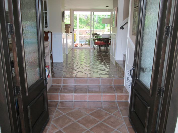 MANGANESE SALTILLO TILE FLOORING PHOTO & STEPS