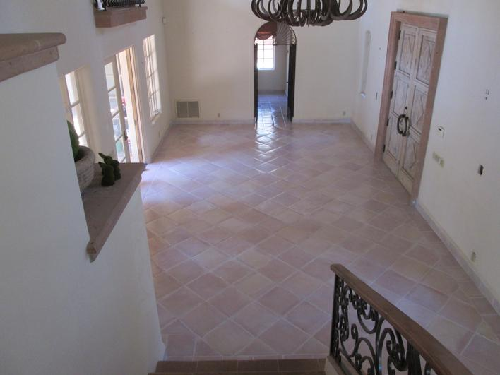 WHITEWASHING SALTILLO TILE & WHITEWASH MEXICAN PAVER FLOORS SAN DIEGO RANCHO SANTA FE POWAY CARLSBAD