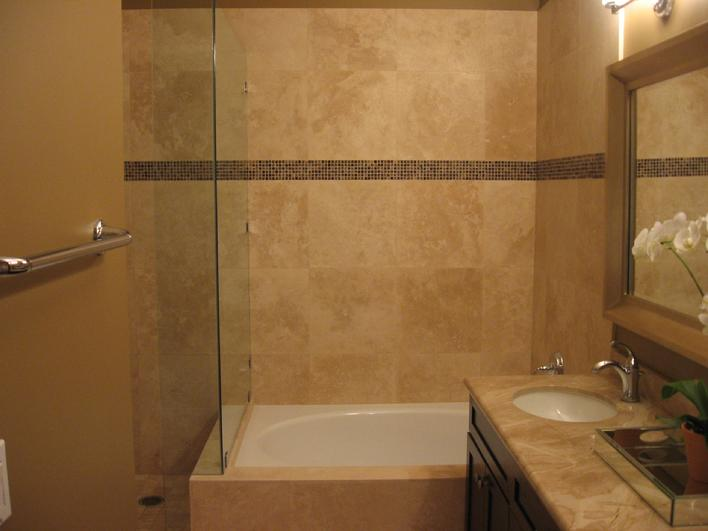 TRAVERTINE TILE HONED FOR THE BATHROOM SHOWER WALLS AND FLOOR.