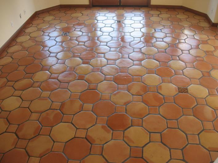 PHOTO OF OCTAGONAL MEXICAN SALTILLO PAVERS