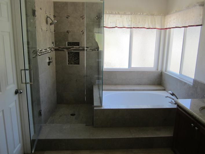 ONE PIECE GRANITE SHOWER PAN INSTALLATION COMPANY & CUSTOM BULLNOSING.