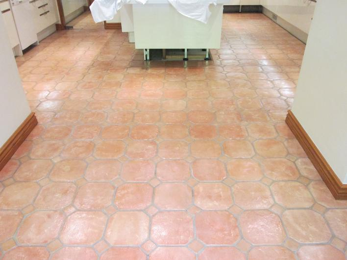 OMG PICTURE OF CLEANED & RESEALED SALTILLO TILES