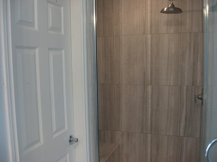 vein cut silver beige limestone tile installation photo image