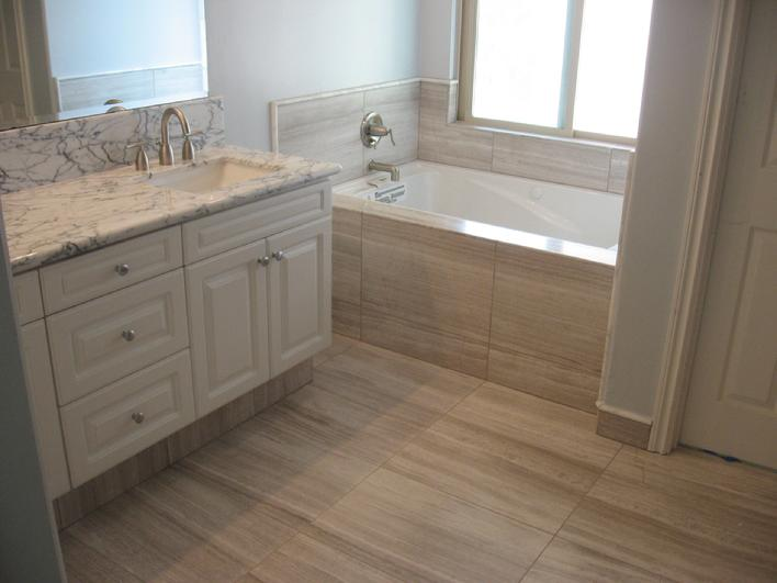 VEIN CUT LIMESTONE INSTALLATION SAN DIEGO CA TILE CONTRACTOR