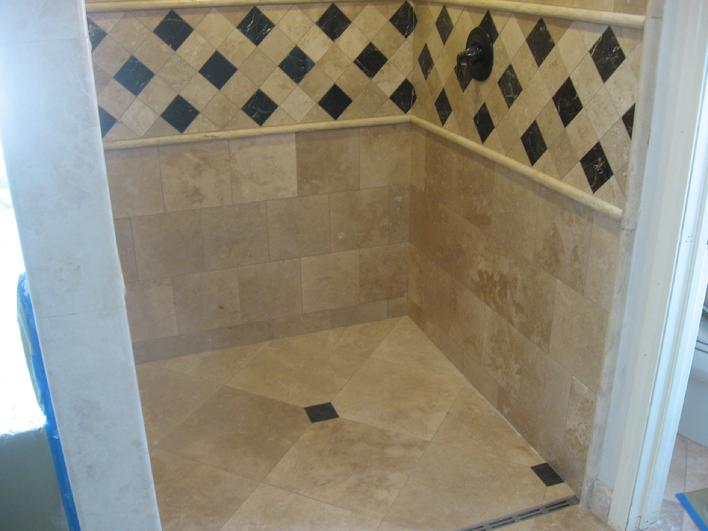 LINEAR TRENCH SHOWER DRAIN PICTURE TILE BATHROOM INSTALLER